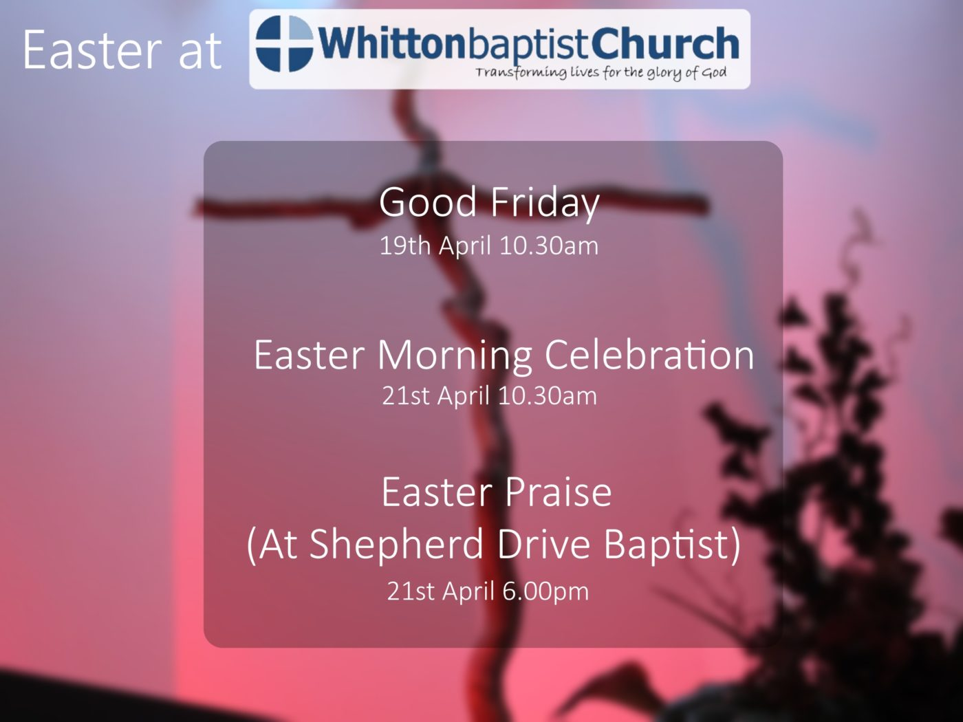 Easter Services | | Whitton Baptist Church